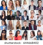 collection of different many... | Shutterstock . vector #644668402