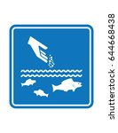 blue feed fish vector square... | Shutterstock .eps vector #644668438