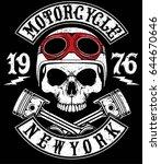 Motorcycle Helmet Typography...