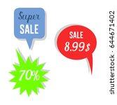 modern vector badges sale... | Shutterstock .eps vector #644671402