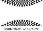 checkered flag. racing flag... | Shutterstock .eps vector #644676292