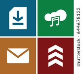 download icons set. set of 4...