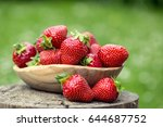 strawberry. red strawberry.... | Shutterstock . vector #644687752
