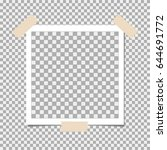 photo frame with sticky tape on ... | Shutterstock .eps vector #644691772