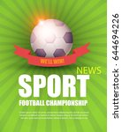sport banner template with... | Shutterstock .eps vector #644694226