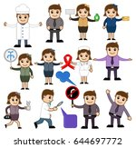 various cartoon with different... | Shutterstock .eps vector #644697772