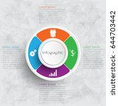 vector infographic templates...   Shutterstock .eps vector #644703442