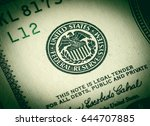 federal reserve system sign for ... | Shutterstock . vector #644707885