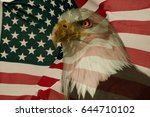 American Flag With Eagle....