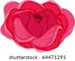 illustration of flower on a... | Shutterstock . vector #64471291