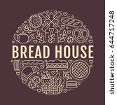 bakery  bread house poster... | Shutterstock .eps vector #644717248