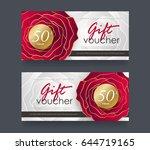 gift voucher discount template... | Shutterstock .eps vector #644719165