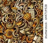 cartoon hand drawn doodles on...   Shutterstock .eps vector #644719528