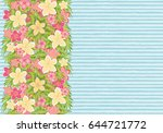 tropical floral seamless banner ... | Shutterstock .eps vector #644721772