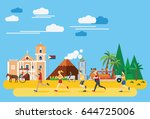 flat design  illustration of... | Shutterstock .eps vector #644725006
