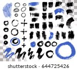 vector set of brush acrylic... | Shutterstock .eps vector #644725426