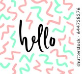 hello sign background. pastel... | Shutterstock .eps vector #644728276