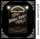 retro whiskey label. vector... | Shutterstock .eps vector #644732128