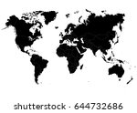 the earth  world map on white... | Shutterstock .eps vector #644732686