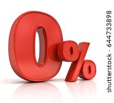 red zero percent or 0  ... | Shutterstock . vector #644733898