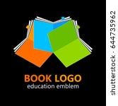 book logo. vector sign. | Shutterstock .eps vector #644735962