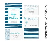wedding invitation  thank you ... | Shutterstock .eps vector #644736622