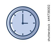 office clock icon vector