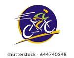 bicycle logo vector | Shutterstock .eps vector #644740348