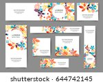 set of abstract web banner... | Shutterstock .eps vector #644742145