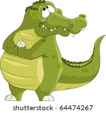 crocodile on a white background ... | Shutterstock .eps vector #64474267