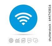 wifi sign. wi fi symbol.... | Shutterstock .eps vector #644743816