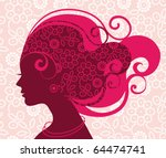 Beautiful Woman Silhouette Wit...