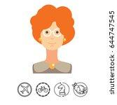 portrait of adult woman wearing ... | Shutterstock .eps vector #644747545