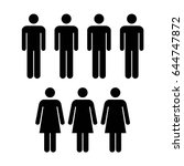 people icon   vector group of... | Shutterstock .eps vector #644747872