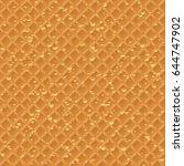 seamless waffle pattern | Shutterstock .eps vector #644747902