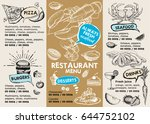 restaurant cafe menu | Shutterstock .eps vector #644752102