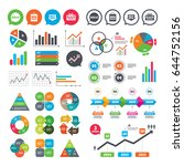 business charts. growth graph.... | Shutterstock .eps vector #644752156