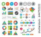 business charts. growth graph.... | Shutterstock .eps vector #644752222