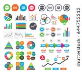 business charts. growth graph.... | Shutterstock .eps vector #644752312