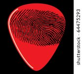 a guitar pick with a...   Shutterstock .eps vector #64475293