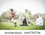 arabic family playing with child | Shutterstock . vector #644754736