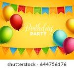 birthday background. vector... | Shutterstock .eps vector #644756176