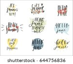 set of hand drawn june signs... | Shutterstock .eps vector #644756836