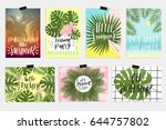 summer greeting cards and... | Shutterstock .eps vector #644757802