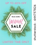 summer greeting card and poster ... | Shutterstock .eps vector #644757826
