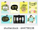 summer june greeting cards and...   Shutterstock .eps vector #644758138