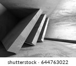 dark concrete empty room.... | Shutterstock . vector #644763022