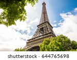paris eiffel tower | Shutterstock . vector #644765698