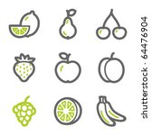 Fruits Web Icons  Green And...
