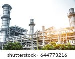 close up industrial view at oil ... | Shutterstock . vector #644773216